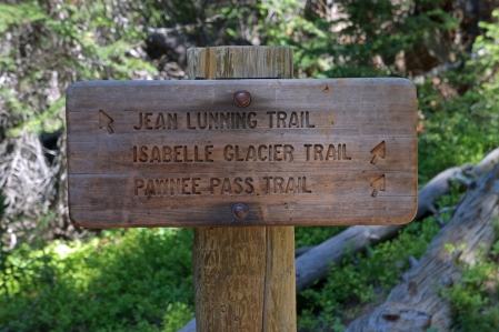 The Pawnee Pass Trail To Long Lake and Lake Isabelle