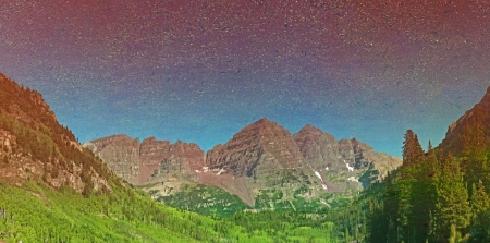 The Maroon bells as Reflected In Maroon Lake