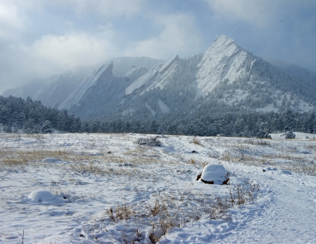 The Cold and Frosty Flatirons