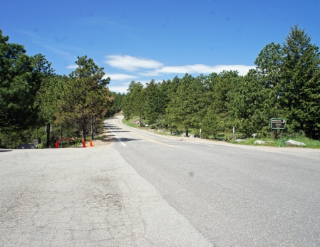 The Trail is on the South of Flagstaff road at realization Point