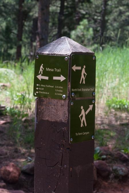 Mesa Trail Sign
